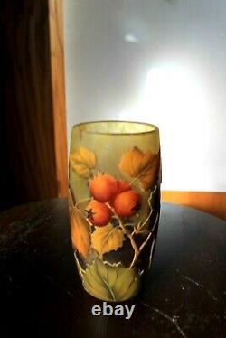 Daum Nancy Floral Art glass Vase