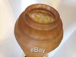 Daum Nancy Vase Art Nouveau Cameo French Art Glass 20.5 inches