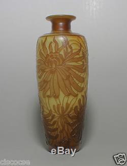 DeVez Art Nouveau Cameo Glass Vase