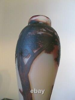 De Vez French Artglass Cameo Glass Lamp Base