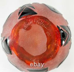 Decorative Cameo Carved Glass Perfume Scent Bottle Raabe and Fellerman