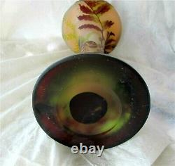 EMILE GALLE Signed Acid Etched Double Overlay Cameo Glass Vase 1880's 12 3/4