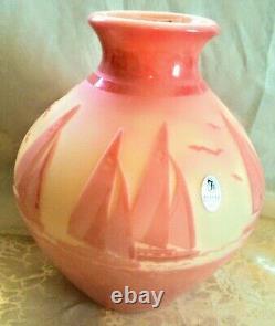 EXCLUSIVE Signed Fenton Limited Kelsey Murphy Studio Art Glass Cameo Vase