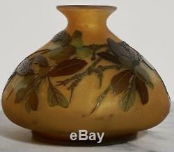 Early Emile Galle Window Pane Cameo Glass Vase