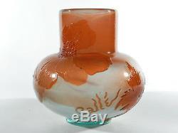 Emile GALLE Jugendstil Glasvase ° france art nouveau japanaise cameo art glass