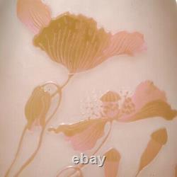 Emile Galle Art Nouveau Cameo Floral Vase
