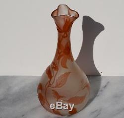 Emile Galle Art Nouveau Cameo Vase, 1900