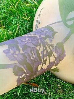 Emile Gallé Fabulous Large Art Nouveau Cameo Vase