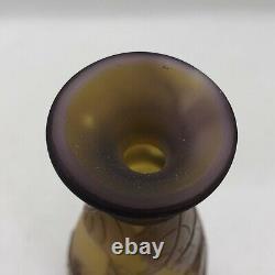 Emile Galle Glass Vase Cameo Solifleur C. 1905-1908 art nouveau antique