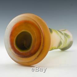 Emile Gallé Three Colour Cameo Glass Vase c1900