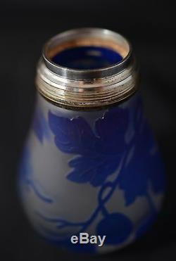 English Enots Two Color Cameo Glass Perfume Sprayer #'d