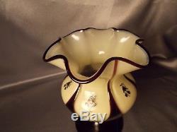 Exceedingly Rare Hans Bolek Loetz Cameo Art Deco Nouveau Tango Pedestal Vase