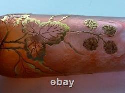 Exquisite Art Nouveau Daum Nancy Cameo Glass Silver Flacon Antique