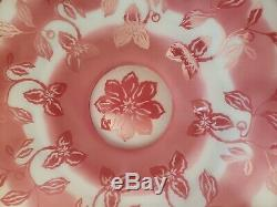 FENTON 15 Pink White Floral Cameo Connoisseur Collection 118/500 Bowl Plate LE
