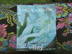 FENTON CAMEO CARVED BUBBLE MAGICFEATHER VASE ByKelsey Murphy-Robert Bomkamp