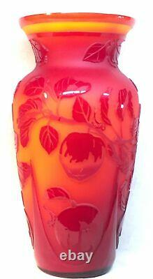 Fenton Art Glass Cameo DELICIOUS On Persimmon LIMITED Number 4 Of 50