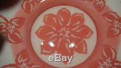Fenton Art Glass Cranberry Cameo Bowl Limited Edition 1994
