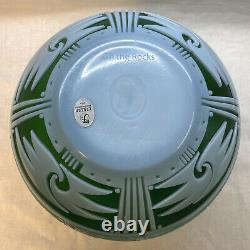 Fenton Cameo Glass On the Rocks Emerald Cased French Opalescent LIMITED 50