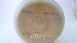 Fenton Chocolate Cameo Carved Art Glass Vase McGregor's Harvest Kelsey Murphey