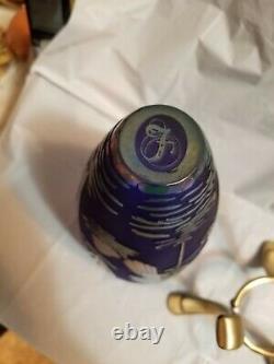 Fenton Favrene Vase Cameo Kelsey\Bomkamp Heron in Water 12''tall