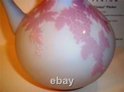 Fenton Glass KELSEY Sand Carved Cameo BLUE BURMESE Vintner Pitcher Ltd Ed