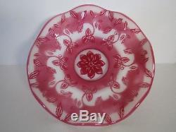 Fenton LE Connoissser Collection Ruby Cameo Floral Mouthblown Huge BowlReynolds