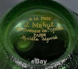 Fine And Rare Jules Mabut Miniature French Acid-etched Cameo Vase Cir 1900