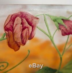 Fine Daum Nancy Cameo and Enamel Glass Bowl