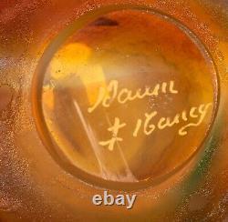 Fine Daum Nancy Cameo and Enamel Glass Vase