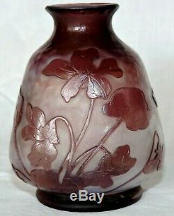 Fine French Daum Nancy Martele Cameo Glass Vase