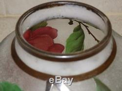 French Cameo Art Glass Signed Nancea Floral Design Vase 7
