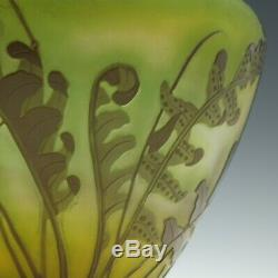 French Galle Cameo'Fougeres' Vase c1900