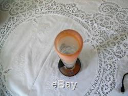 Galle 11 Hygrangia Cameo Glass Vase