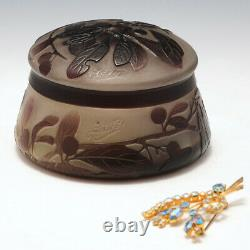 Galle Cameo Glass Box and Cover c1922
