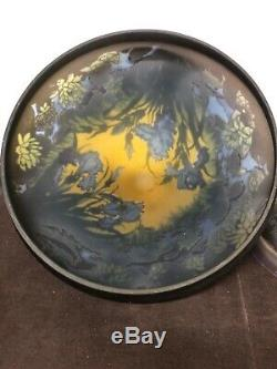 Galle Cameo Lamp, The Three-coloured Base Acid-etched Signed