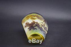 Galle Cameo glass landscape vase C1900