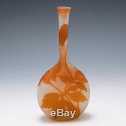 Galle Clematis Cameo Glass Banjo Vase 1902-1904