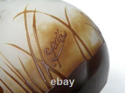 Gallé Emile Authentic Soliflore Vase Cameo Iris Flower Decor white bottom