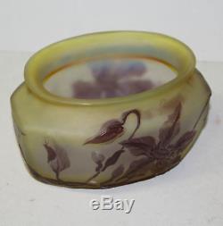 Galle French Cameo Art Glass Rectangular Paneled Vase
