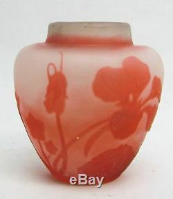 Galle Pink Cameo 2 1/2 Vase