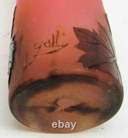 Galli Cameo Pink Art Glass Vase