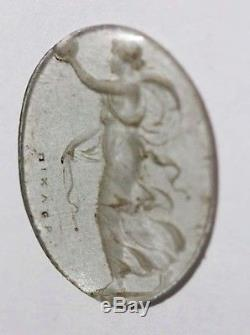 Giovanni Pichler RARE cameo glass goddess 2 cm