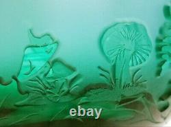 Gorgeous Kelsey Murphy/Robert Bom Kemp Green Sand Carved Bowl/Vase 7 x 6