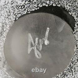Huge Murano Art Glass Reverse Cameo Cut White Ferns Vase Contemporary Design
