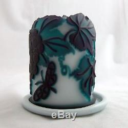 KELSEY MURPHY RARE PILGRIM 4 Layer Cameo Fairy Lamp Art Glass