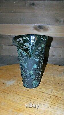 Kelsey Murphy Pilgram Cameo Ooak Split Floral Vase Fairies & Ivy
