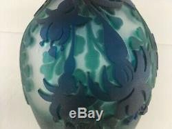 Kelsey Murphy Pilgrim Cameo Glass Fuchsia O/P 7 Vase