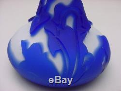 Kelsey Murphy Pilgrim Glass 2 Layer Cameo Glass Vase