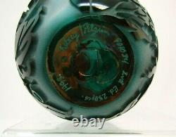 Kelsey Murphy Pilgrim Green Cameo Sand Carved Glass 7 Vase 2nd Ed. 1993