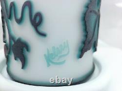 Kelsey Murphy / Pilgrim Vineyard Cameo Sand Carved Fairy Lamp/Light/Luminary